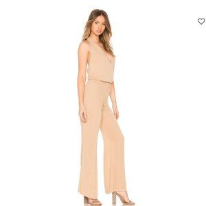 INDAH Smoke Cross Front Jumpsuit Nude Size Small